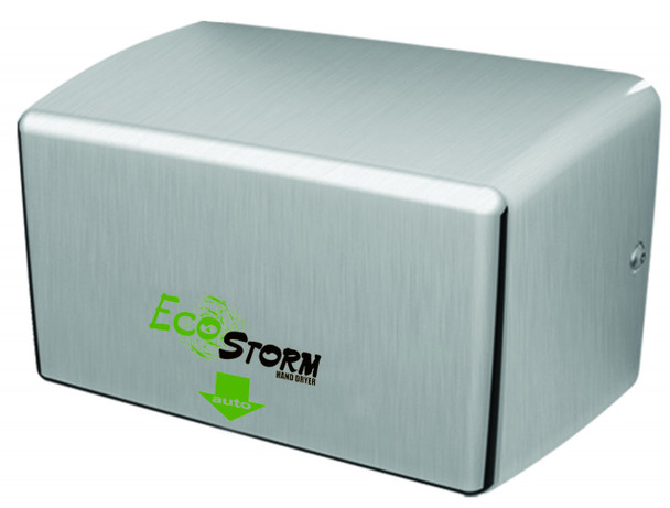 EcoStorm Brushed Stainless Steel Hand Dryer from Palmer Fixture - HD940 SS and HD941 SS - HD0940-09 - HD0941-09 - Surface Mounted - an Energy Efficient Hand Dryer!