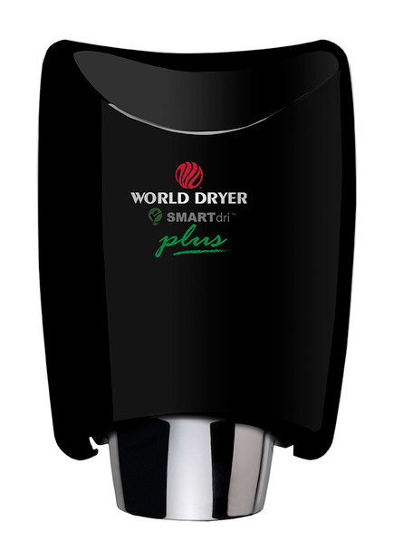 World Dryer SMARTdri Plus K-162P Black Aluminum hand dryer with single port nozzle