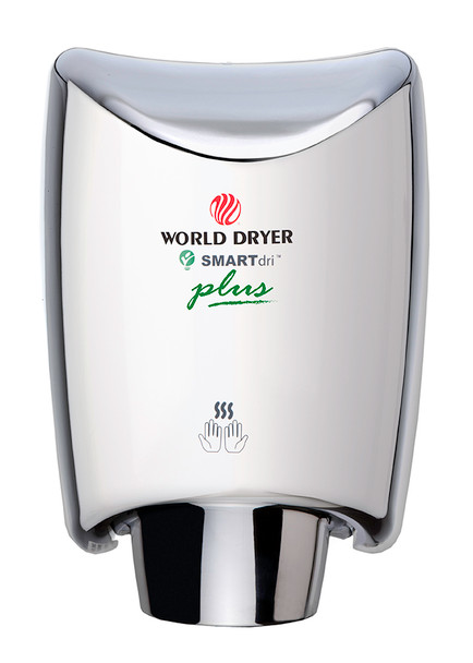 World Dryer SMARTdri Plus K-972P Polished Stainless Steel Hand Dryer. One of the best automatic restroom hand dryers!
