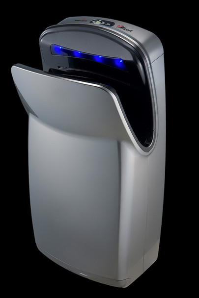 V-639A VMax Hand Dryer by World Dryer is a vertical high speed hand dryer with a Silver high impact ABS cover.