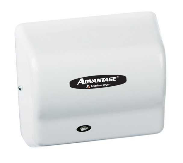 AD90 Advantage hand dryer by American Dryer in White ABS
