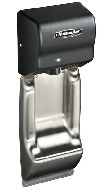 American Dryer ADA-WG Wall Guard show with an ExtremeAir EXT7-BG hand dryer. *Note - hand dryer not included*