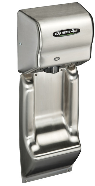 American Dryer ADA-WG Wall Guard show with an ExtremeAir GXT9-SS hand dryer. *Note - hand dryer not included*