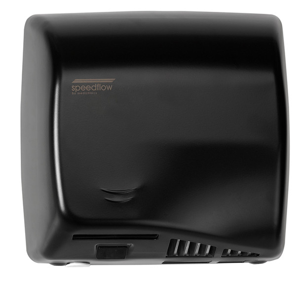 Speedflow AB06AB hot air hand dryer in Graphite Black has an adjustable high speed motor.