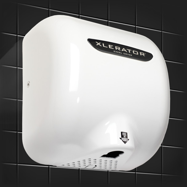 Xlerator hand dryer XLW with white metal cover