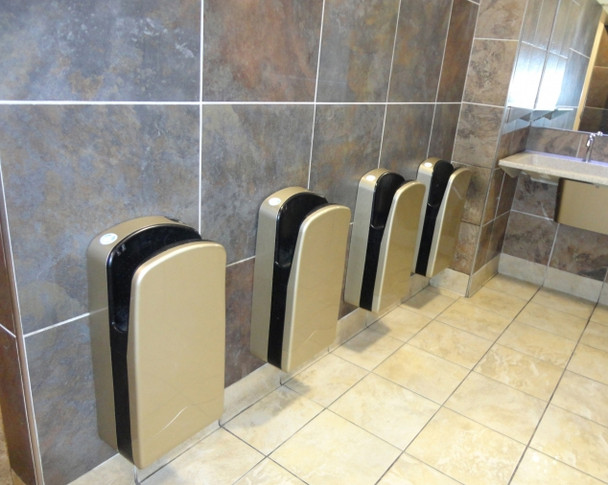 Veltia hand dryers mounted on the wall