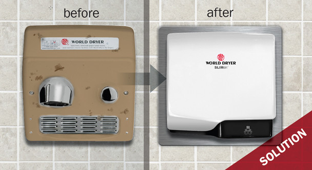 World Retrofit Kit for the Slimdri hand dryers.