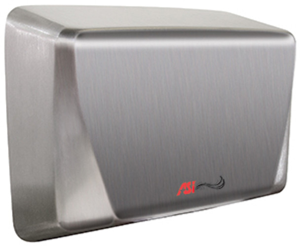 Turbo ADA 0199-93 hand dryer in satin stainless steel by ASI comes in 110-120v, 220-240v, and 277v.