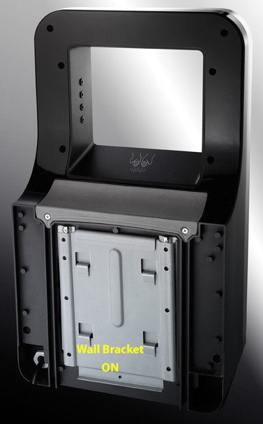 Wall mounting bracket attached to the Triumph hand dryer by ASI