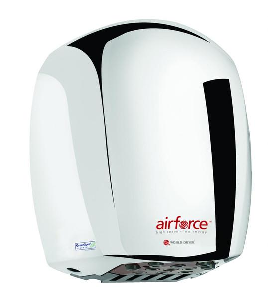 World Dryer Airforce J-970 Polished Chrome high speed hand dryer