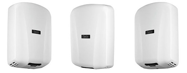 Side profiles of the TA-ABS Thin-Air hand dryer from Excel