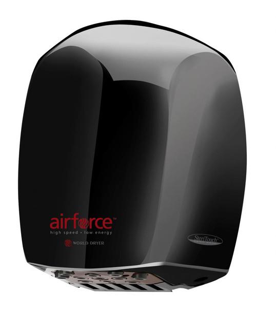 World Dryer Airforce J-162 Black hand dryer
