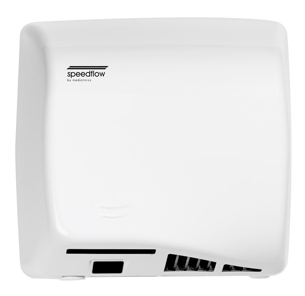 Speedflow Plus M17A-UL Automatic Steel White Epoxy Hand Dryer from Saniflow - High Speed, ADA compliant, Universal Voltage, Surface Mounted Design