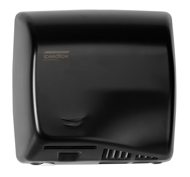 Speedflow Plus M17AB-UL Automatic Steel Black Graphite Epoxy Hand Dryer from Saniflow