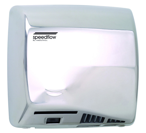 High Speed Speedflow Plus M17AC-UL Automatic Polished Stainless Steel Hand Dryer from Saniflow - ADA Surface Mounted Design