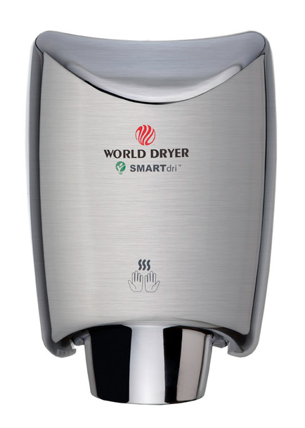 World Dryer K-971 SMARTdri Aluminum Brushed Chrome hand dryer is one of the best selling hand dryers!