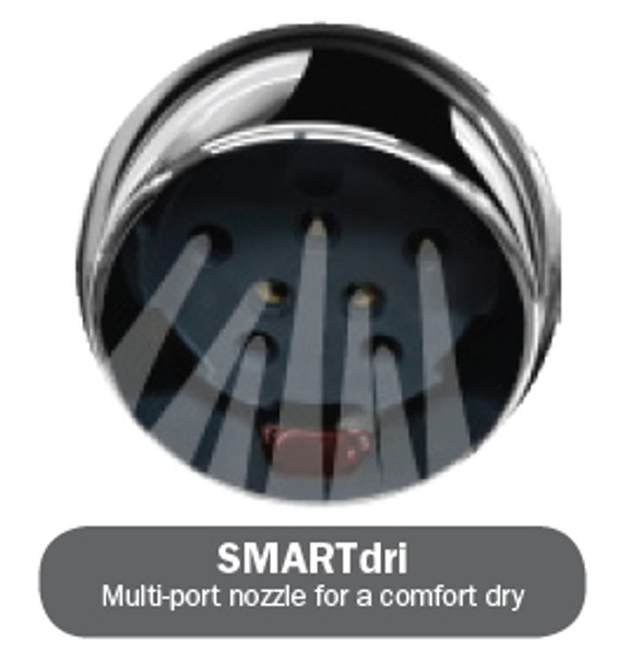 SMARTdri K-162 hand dryer has multi-port nozzle for a comfort dry