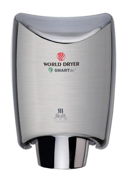 World Dryer SMARTdri K-973 Brushed Stainless Steel hand dryer