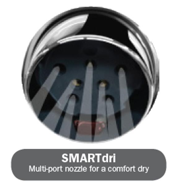 K973 SMARTdri hand dryer has multi-port nozzle for a comfort air dry