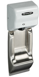 American Dryer ADA-WG Wall Guard show with an ExtremeAir GXT9-M white hand dryer. *Note - hand dryer not included*