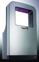 Blue LED lights on the Triumph hand dryer by ASI