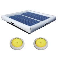 Savior Light SMD LED RGB 5000 Lumens 60-watt Solar Powered Pool Spa Pond Color Light with Remote