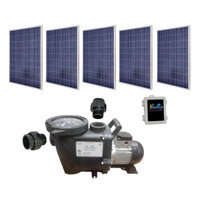 SunRay SolFlo3 - 5 Solar Panels 1250kW Filter Pump Systems Complete Solar Pool Pump 80GPM 55FT Head 180VDC Brushless Motor