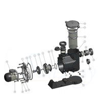 SunRay SolFlo4 (without solar) Solar Filter Pump Systems w/ Controller Solar Pool Pump 115GPM 60FT Head 3.5HP 3000RPM 240VDC Brushless Motor