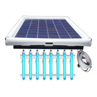 Savior UV O3 Ultraviolet Ozone Pool Sanitation Disinfection Systems 120-watt Solar Powered 50,000 Gallon