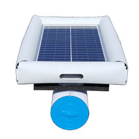 Savior Eliminator Pool Eliminator Solar Pump Filter Cleaner and Ionizer 30w