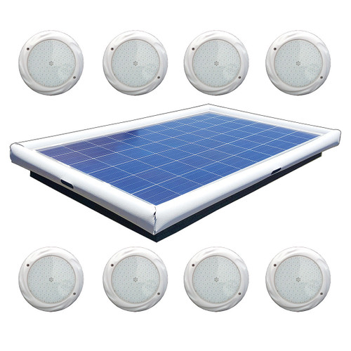 Savior Light SMD LED RGB 20000 Lumens 220-watt Solar Powered Pool Spa Pond Color Light with Remote