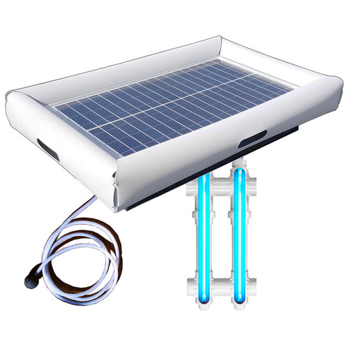 Savior UV O3 Ultraviolet Ozone Pool Spa Sanitation Disinfection Systems 30-watt Solar Powered 3000 Gallon