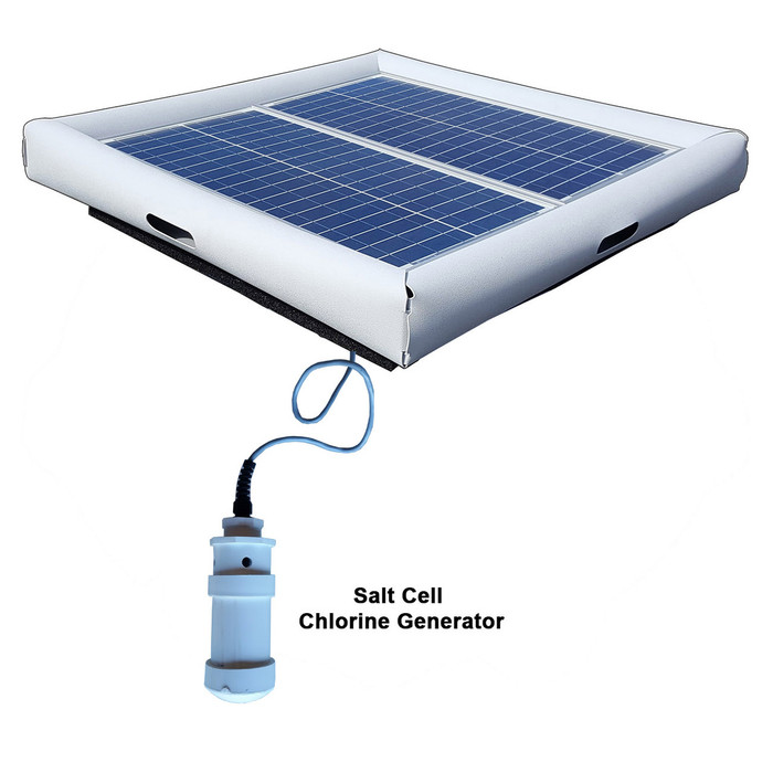 Savior Salt System Pool Chlorine Generator 60-watt Solar Powered 30000 Gallon