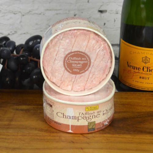 Affiné au Champagne Rosé 180g