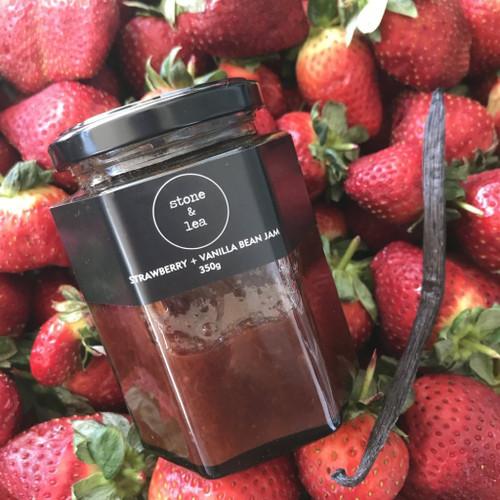 Strawberry + Vanilla Bean Jam 350g