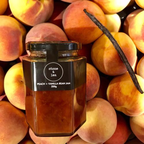 Peach + Vanilla Bean Jam 350g