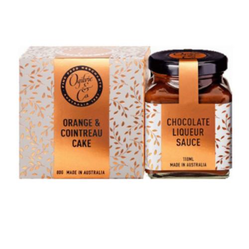 Orange & Cointreau Cake with Chocolate Liqueur Sauce