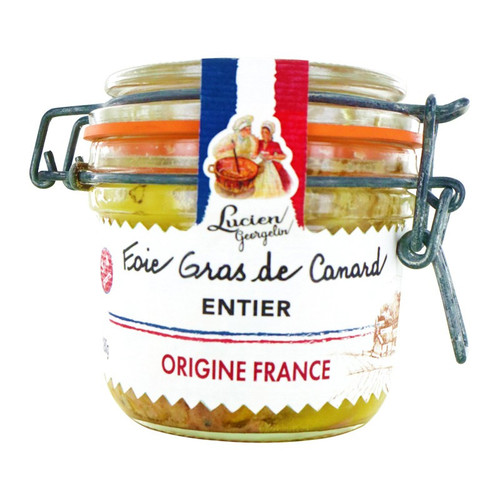 Whole Duck Foie Gras Entier in Glass Jar Lucien Georgelin 180g
