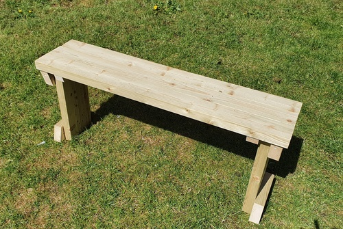 Wooden Homemade 4ft to 6ft Wooden Bench available unstained or painted