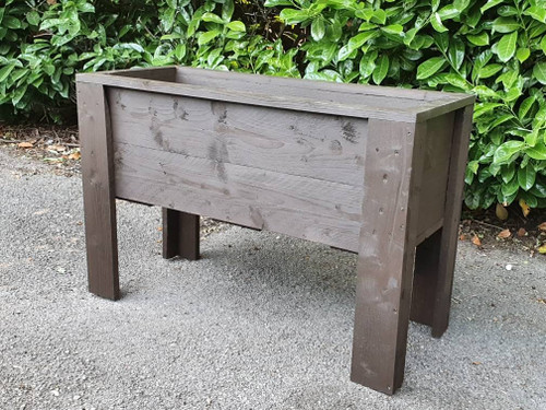 Large wooden planter on legs, available in lengths, 90cm, 120cm, 150cm, 180cm
