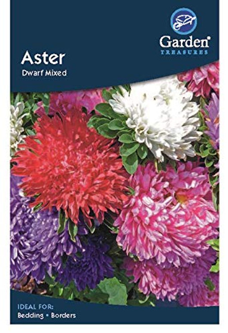 Garden Treasures Aster Dwarf Mixed Seeds Grow Your Own Flowers