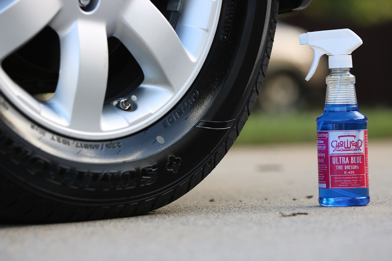 Show Car Ultra Blue applied to a tire