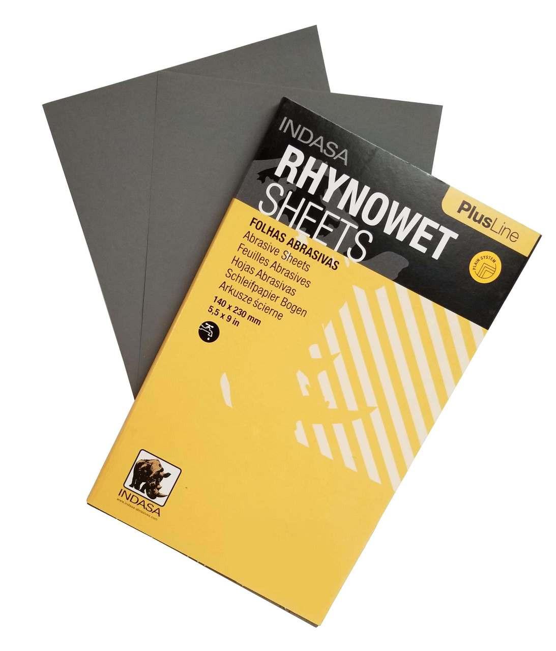 Indasa RhynoWet PlusLine Sandpaper Wet/Dry Half Sheet
