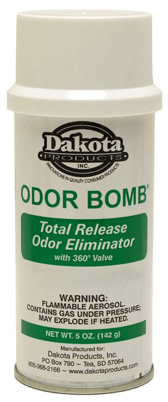 DESTROYS ODORS IN your vehicle, RV, or boat. Odor Bomb eliminates all types of malodors. Effectively eliminates odors caused from urine, feces, decay, rancidity, fire, tobacco smoke, cooking and mildew. Each Odor Bomb can treat 6000 cubic feet, or the size of a typical hotel room. Do not set off entire can in a car interior. Just spray a few sprays into the space of the car, not at any surface, close the car for several hours, then open to ventilate prior to reoccupying the car.