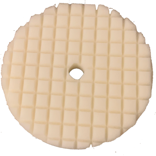 """Lake Country White Recessed Crosscut One Step Foam Pad 8"""""""