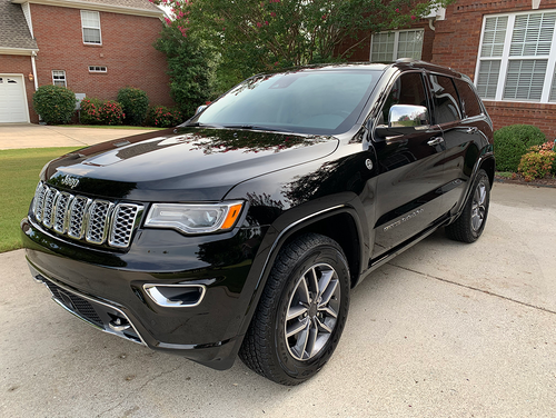 Jeep Grand Cherokee with Reli Yellow Butter Wax applied