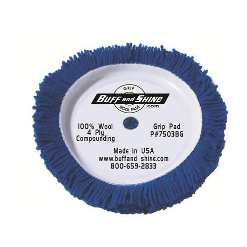 Buff & Shine 7503BG Wool Compounding Pad Blue