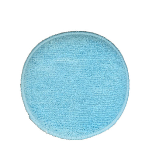 "This is a 5"" round wax applicator with both sides covered in microfiber for a supersoft non scratch process."