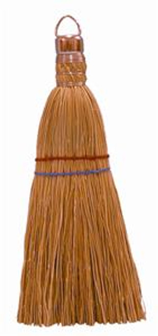 """This Magnolia Whisk corn broom is sewed two times. It also features a cadmium plated ring cap. This is the best quality whisk broom for home, automobile, and office use. Overall length 11""""."""
