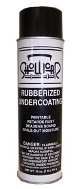 Rubberized Undercoating Spray is an ideal protectant for coating fender replacements, new panels, section repairs, undercarriage, and weld joints. Leaves a paintable surface. The spray prevents rust, deadens sound and seals out moisture quickly and easily. In addition, it resists salt corrosion.